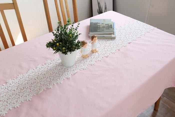 HOME 少女心蕾絲拼接粉紅桌巾 桌布 餐桌巾 拍攝道具 背景布 餐廳咖啡店民宿餐廳桌巾