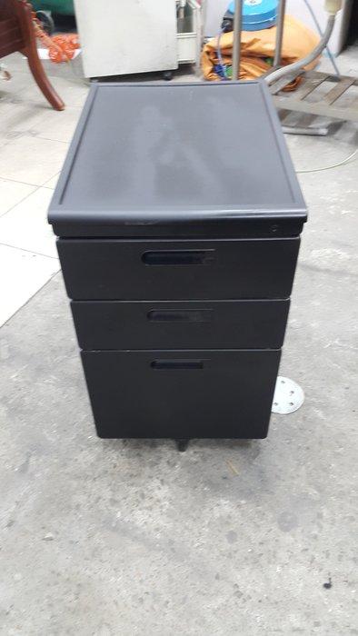 樂居二手家具 全新中古傢俱賣場 Q1231HJJ*黑色活動櫃 抽屜櫃 文件櫃 資料櫃 公文櫃 二手辦公家買賣/OA桌椅