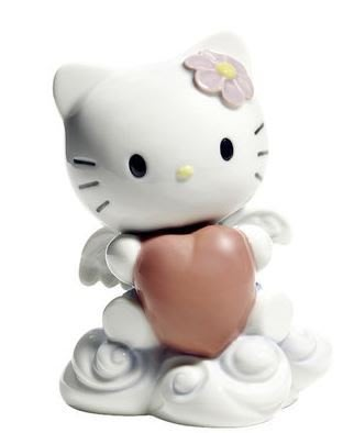 鼎飛臻坊 Hello Kitty 凱蒂貓  Lladro純手工製作 天使造型 陶瓷 娃娃 擺飾  日本正版