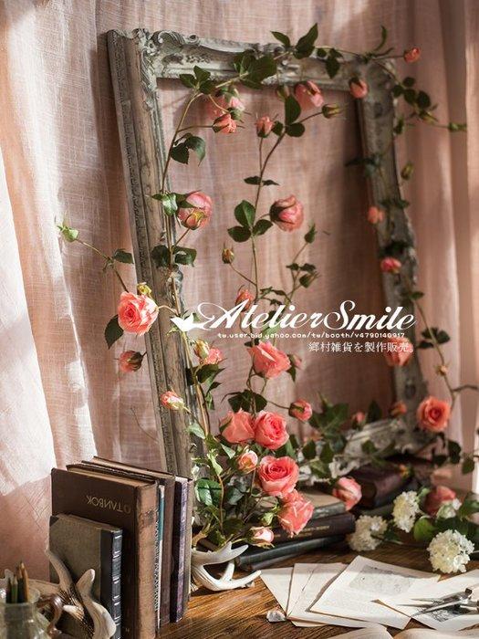 [ Atelier Smile ] 鄉村雜貨 小花園系列 仿真玫瑰花藤 裝飾果樹 仿真植物 藤蔓 # 單支 (現+預)