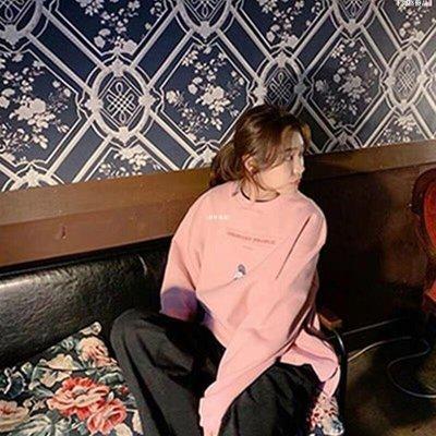 [尚格優品] 2020秋潮新款正韓ORDINARY PEOPLE泰妍同款粉色衛衣女純棉寬松上衣Q9H62
