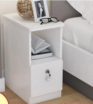 『格倫雅』簡易小型床頭櫃子20-25-30-35CM臥室超窄迷妳床邊儲物鬥櫃邊櫃^1751