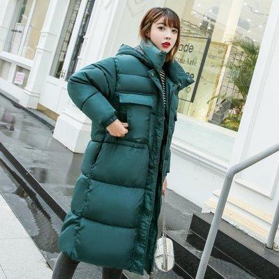 反季羽絨棉服女中長款加厚棉襖2019新款韓版寬鬆棉衣學生冬季外套