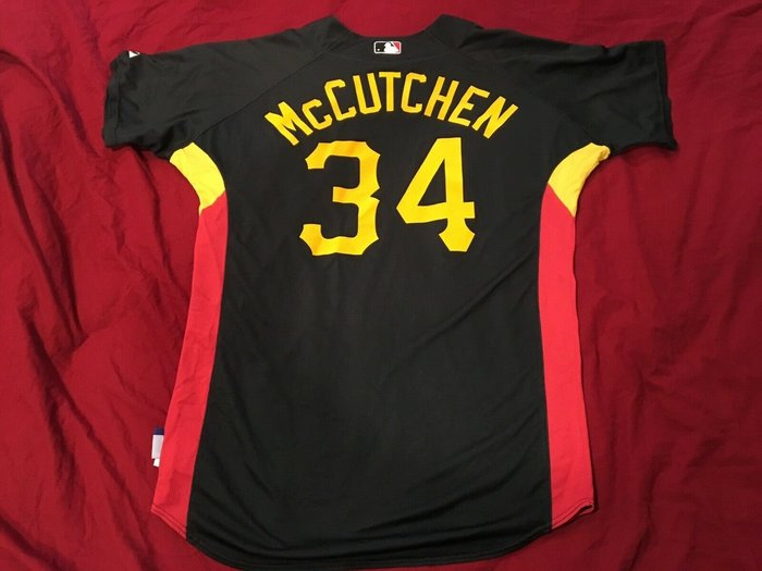 MLB Pittsburgh Pirates 海盜 #34 McCutchen Game Used BP Jersey
