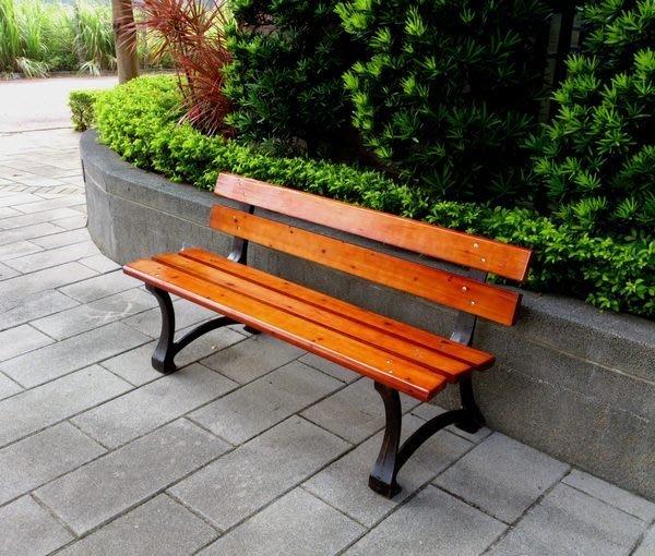 兄弟牌歐式重型5尺鑄鐵公園椅~3人椅可適用厚實耐用,板厚3cm~戶外休憩依靠!