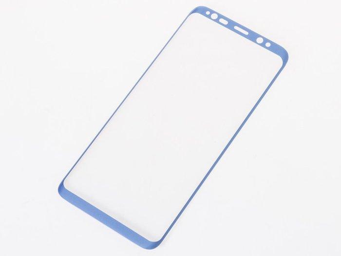 三星手機*Samsung Galaxy S8 Plus 3D螢幕玻璃保護膜  藍 ZA-40304