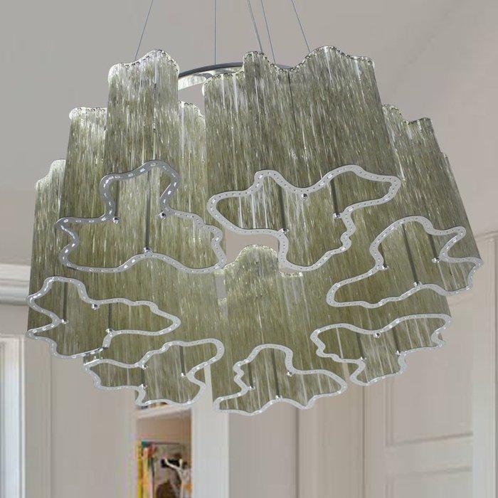 【58街】「水晶玻璃管吊燈」極致典雅品味/燈具/美術燈。複刻版。GH-568