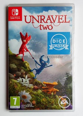 DC光感遊戲 NS switch 游戲 毛線小精靈2 Unravel Two 2 英文 可雙人玩~規格不同價格不同,請咨詢