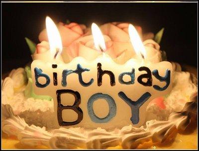BOY BIRTHDAY 生日蠟燭組 生日快樂 生日慶生 蛋糕裝飾 派對 禮物 造型蠟燭B02~MJ的窩~