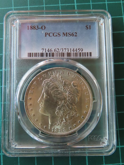 1883年美國摩根銀幣 PCGS MS62