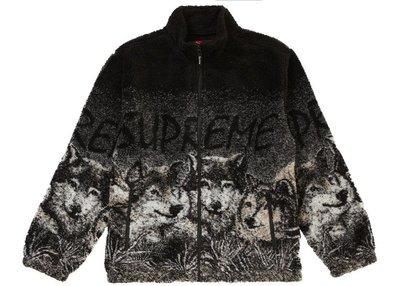 「Rush Kingdom」代購 Supreme Wolf Fleece Jacket Black 黑 絨毛外套 野狼