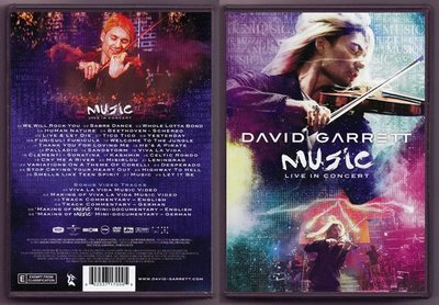 音樂居士#David Garrett - Music Live In Concert (/dts) DVD