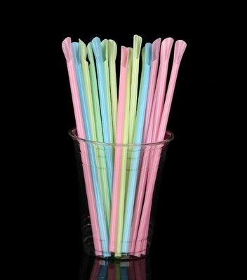 預售款-1000支一次性勺形吸管刨冰鏟...