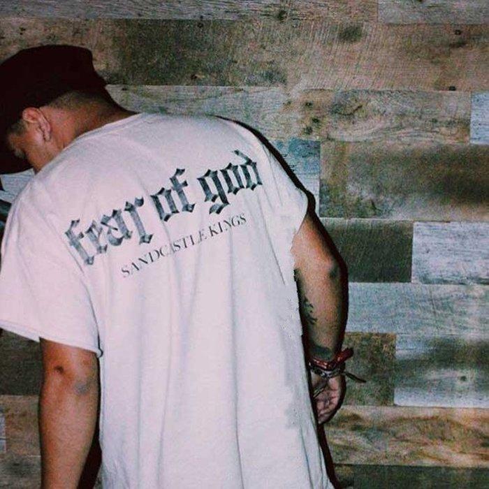 全新商品 Fear Of God FOG SK 短袖TEE 黑色 白色 卡其色