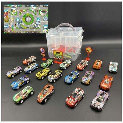 大賀屋 3層盒子 多美小汽車 玩具車盒子 玩具盒 多美收納盒 汽車收納盒 汽車收納 玩具組 玩具 C00010166
