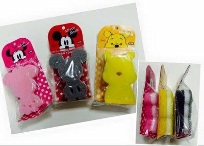 *凱西小舖*日本進口迪士尼正版日本製米奇/米妮/小熊維尼立姿形狀清潔海綿菜瓜布