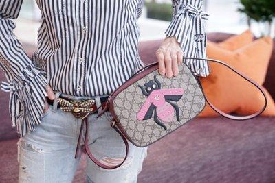 Gucci crossbody canvas bag 水晶蜜蜂斜背包