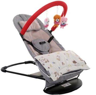 搖椅 嬰兒哄睡哄寶神器寶寶新生搖搖椅兒童安撫0-1-2歲折疊哄娃躺椅   全館免運