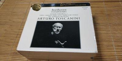 好音悅 Toscanini 托斯卡尼尼 Beethoven 貝多芬 交響曲全集 5CD RCA USA美版 無IFPI