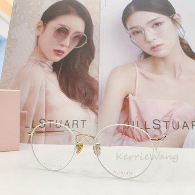Jill Stuart  白-金雙色鈦金屬圓框眼鏡 簡約線條質感 性感又率性的風格 亮眼自信  令人耳目一新的浪漫設計JS70023