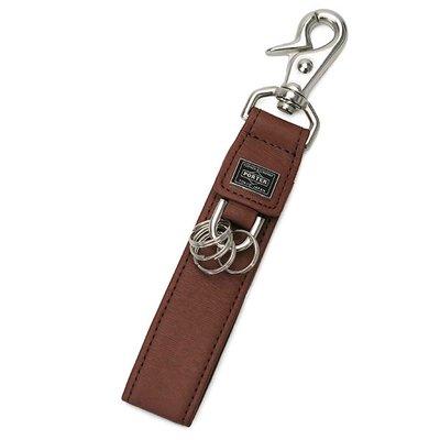 『小胖吉田包』咖啡色預購 日本 日標 吉田 PORTER CURRENT 鑰匙圈/皮革製 ◎052-02217◎免運費!