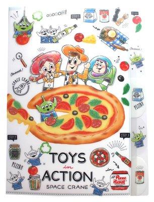【卡漫迷】 玩具總動員 五層 資料夾 PIZZA ㊣版 手繪 L字型 L夾 A4 文件夾 檔案夾 Toy Story