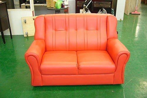 樂居二手家具館 全新馬克思紅色雙人皮沙發 客廳桌椅 傢俱工廠零碼拍賣電視櫃 鞋櫃