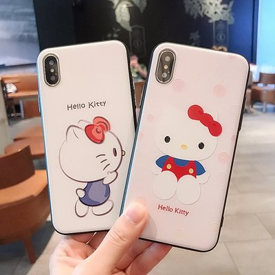 704HELLO KITTY浮雕全包邊IPHONE手機電話殼 IPHONE6 7 8 X PLUS XR XS MAX