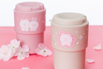 日本限定 LINE FRIENDS 熊大 Brown Cony 雙面 Sakura Edition 350ml 隨行杯 正品(旺角門市交收)預購貨品請先入數
