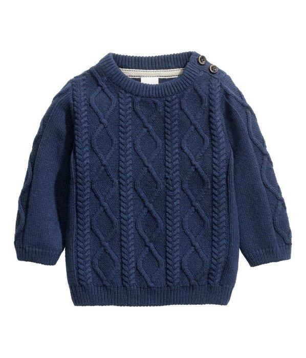 *小豆仔的屋Dou Dou House*歐洲瑞典H&M童裝/冬季麻花針織毛衣(兩色)(現貨+預購)