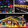 32米300燈 太陽能管子燈 庭院別墅戶外庭院燈 led家用陽臺布置氛圍閃爍彩燈 花園裝飾防水燈串