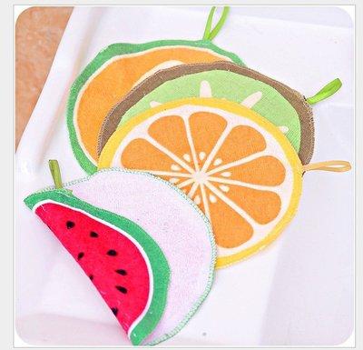 LoVus-水果圖案可擦手可掛式廚房吸水兒童可愛巾