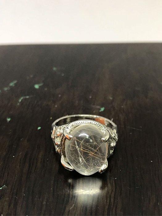[晶藝坊]天然髮晶水晶戒(20mm)37