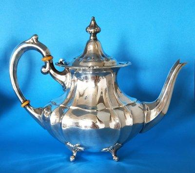"493 高級英國鍍銀壺Silver Plate Footed tea ~ coffee pots  8""(6440)-"