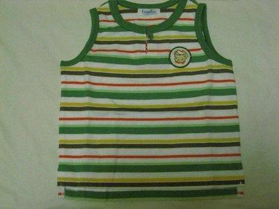 麗嬰房Familiar 系列綠色條紋背心