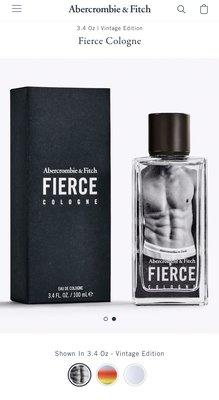 Abercrombie and Fitch A&F 男生經典男香水 FIERCE Fierce Cologne 100ml 全新正品 美國官網購入 現貨在台