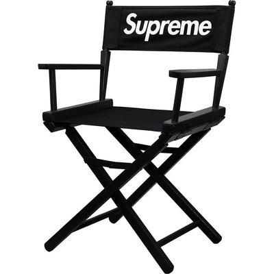 佰佰潮牌Supreme 19ss折疊椅導演椅 實木凳子釣魚野外 垂釣 露營椅子
