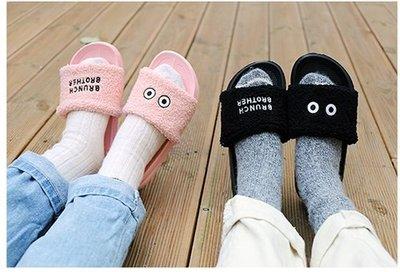 ♀高麗妹♀韓國 BRUNCH BROTHER SLIPPER 早午餐兄弟泡泡 不對稱居家拖鞋/室內拖鞋/情人拖鞋(預購)