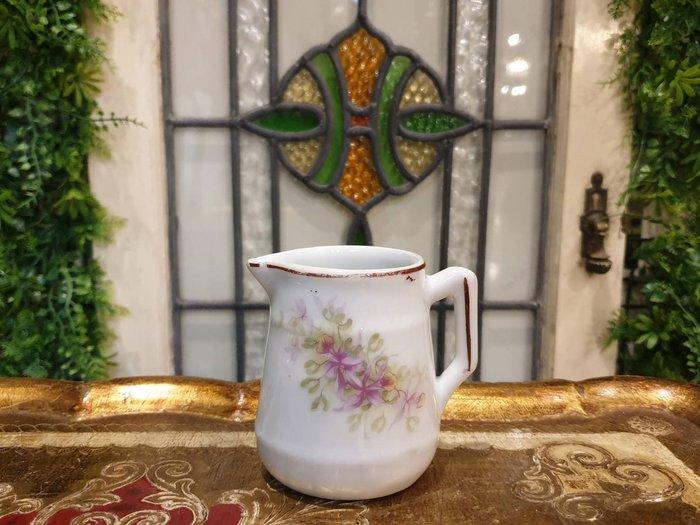 【卡卡頌 歐洲古董】歐洲老件  典雅小粉花  小瓷壺   奶盅 p1880 ✬