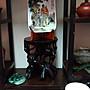 名家希平盧粉彩暗八仙纹盘/早期收藏/高18.5公分寬11.7公分厚2.5公分/值得珍藏/櫥窗藝品
