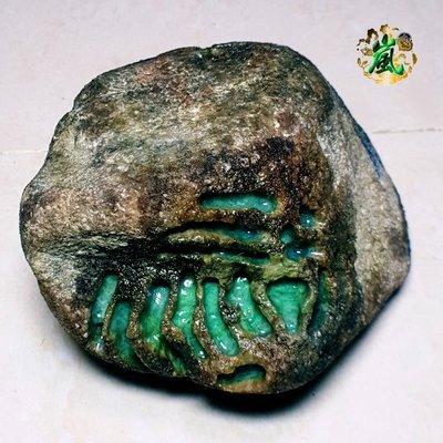 ♪嵐翡翠原石坊❦緬甸天然翡翠原石老坑莫西沙色料冰果綠爆色冰陽綠色濃郁大面積開窗都是色色的老皮革完整無大裂