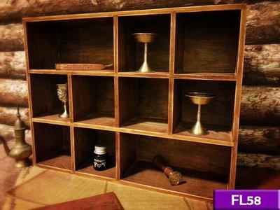 【現貨】實木收納盒 (舊木色) FL58 家居裝飾 展示櫃 收納櫃 工業風 北歐 LOFT 復古 美式