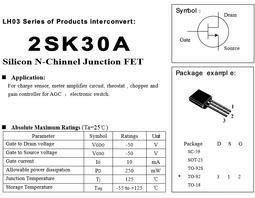 2SK30A MOS 場效應 電晶體 Silicon N-Chinnel Junction FET