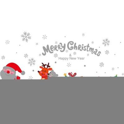〖全館免運〗壁貼  圣誕節裝飾品玻璃櫥窗貼紙圣誕樹禮物墻貼門貼 雙11購物節  【千鳥格居家館】