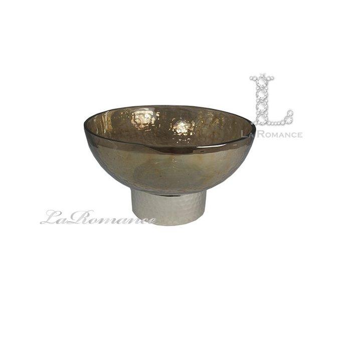【芮洛蔓 La Romance】威尼斯系列茶色玻璃碗 (小) / 置物 / 果盤 / 餐桌