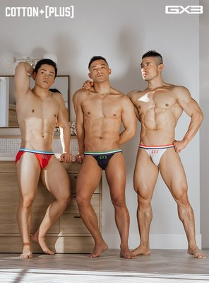 .Jn男潮內著.【K1116】【L號】GX3純棉+[PLUS] 系列U凸囊袋運動比基尼男士内褲