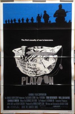 前進高棉 (Platoon) - Oliver Stone 奧立佛史東 - 美國原版電影海報(1986年)