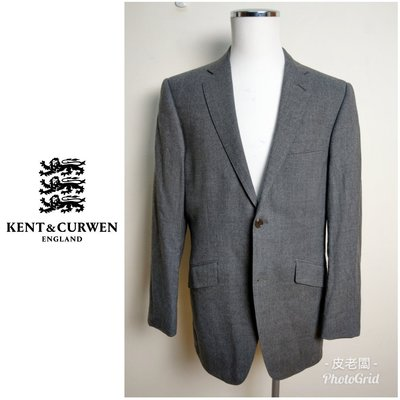 【皮老闆】二手正品 英國 KENT & CURWEN 灰色 兩扣西裝外套