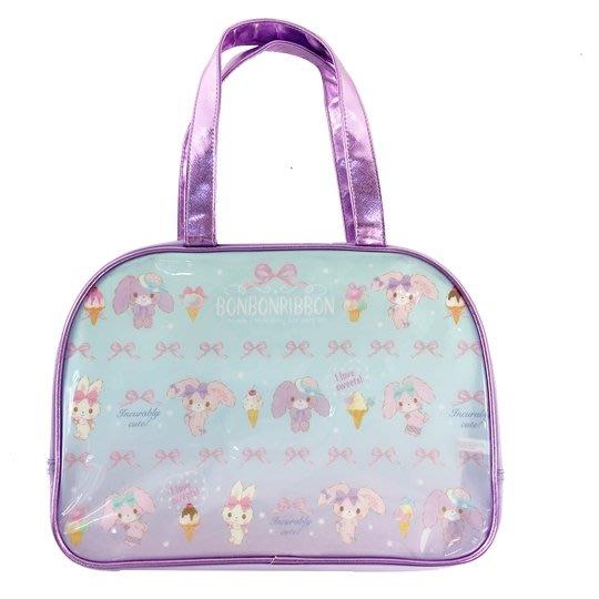 【莓莓小舖】正版 ♥ Sanrio 三麗鷗 蹦蹦兔 防水海灘袋 波士頓包