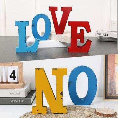 北歐英文字母墻面裝飾創意餐廳客廳臥室公司前臺logo設計壁飾軟裝